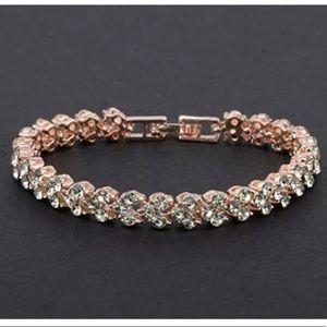 Swarovski Element Rose Gold Crystal Bracelet